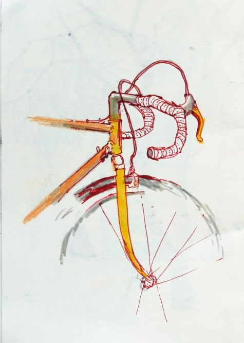 lovely little bike drawing. #bike #art