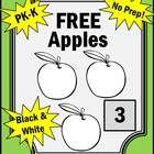 Apples:  Here is a sample counting page from my Apples PK-K Math Activity Packet.  These apple math pages go along nicely with many children's lite...