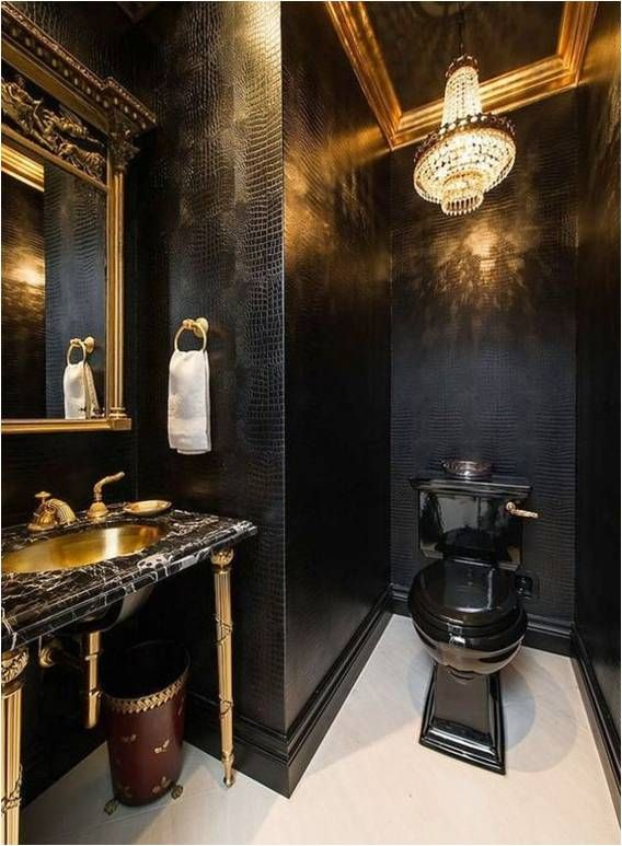 Bathroominspiration Splash Of Luxurious Black For Luxe