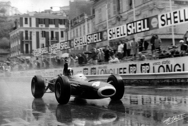 Jackie Stewart @ 1966 Monaco Grand Prix - Paul Henri Cahier