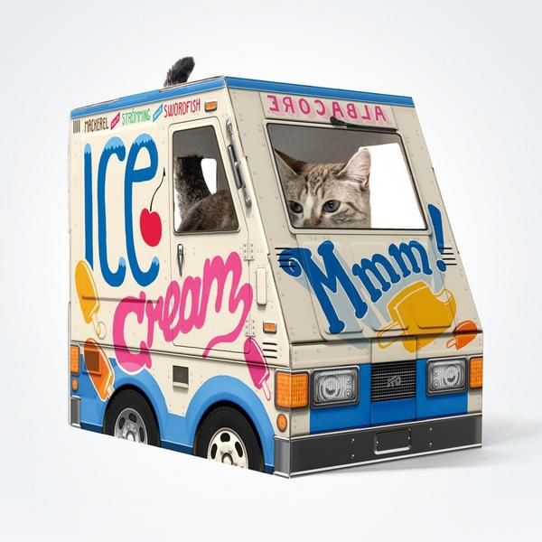 OTO Ice Cream Truck For Cats! U003eu003e Amazing Product Just A Click Away : Cat  House