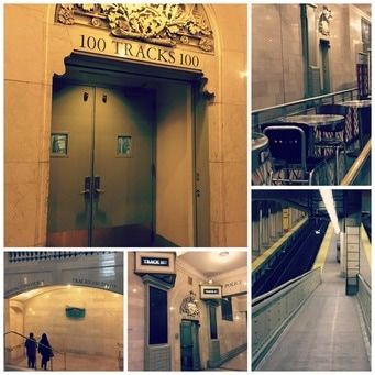 Scenes from Inland:  Grand Central Track 100 -- the setting for the secret portal to an alternate universe