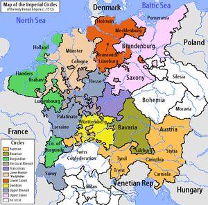 History of Germany -Holy Roman Empire 1512