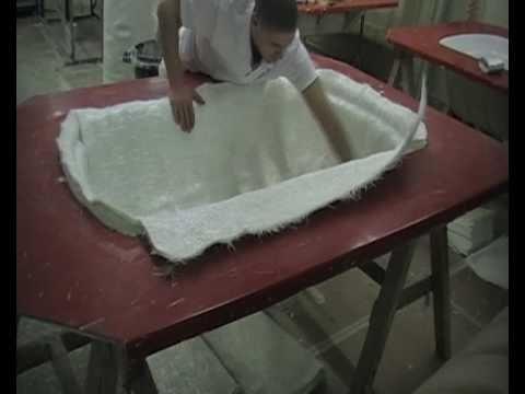 Fibreglass vacuum moulding. - YouTube