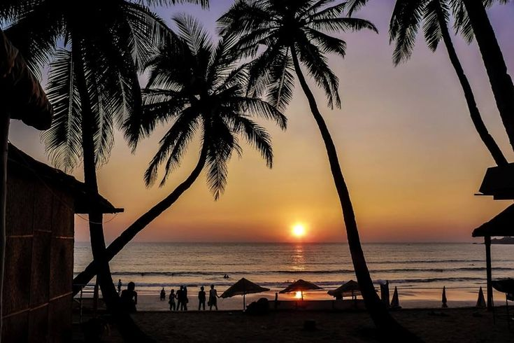 Where to go on holiday in February | http://www.weather2travel.com/holidays/where-to-go-on-holiday-in-february-for-the-best-hot-and-sunny-weather.php | Goa sunset © Maciej Bledowski - Dreamstime.com