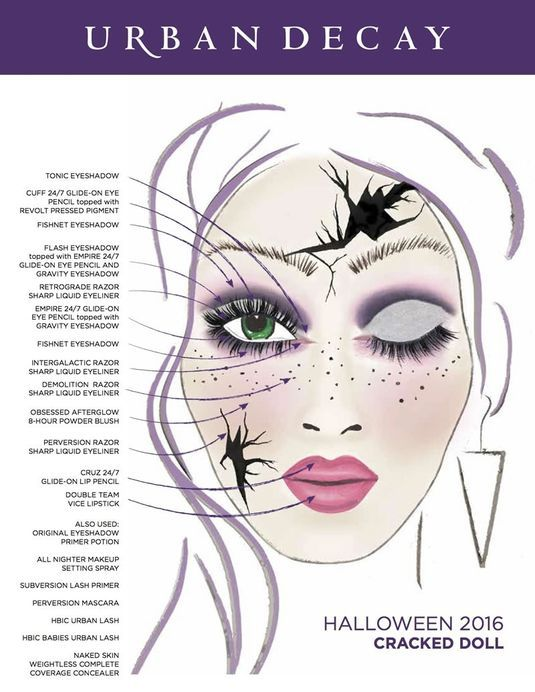 cracked doll ud halloween look - Article About Halloween