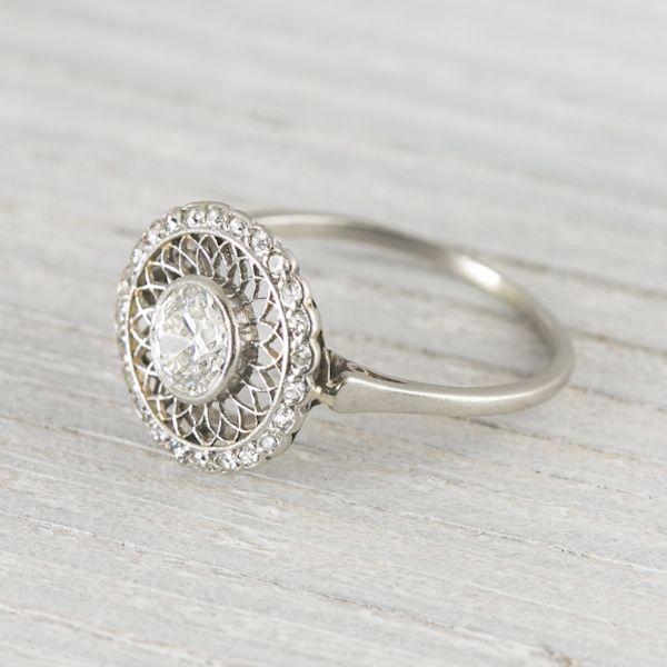 .60 Carat Vintage Edwardian Diamond Engagement Ring Circa 1900s