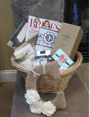 gift basket I made for my Sister.. includes May Designs wedding ...