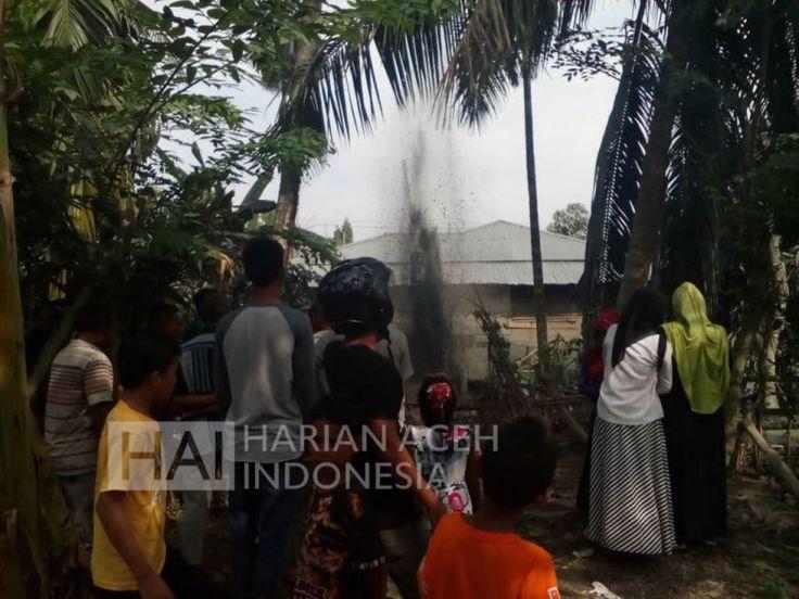 Aneh Ada Semburan Lumpur Di Blang Aman Aceh Utara
