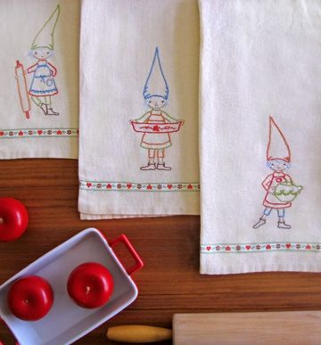 Kitchen Gnomes embroidery pattern by Wee Wonderfuls