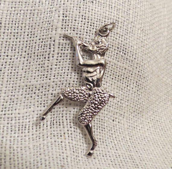 Pan Greek Mythology God of the Wild Sterling Silver Charm