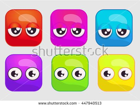 Match 3 game items / Game Assets Reskin - stock vector