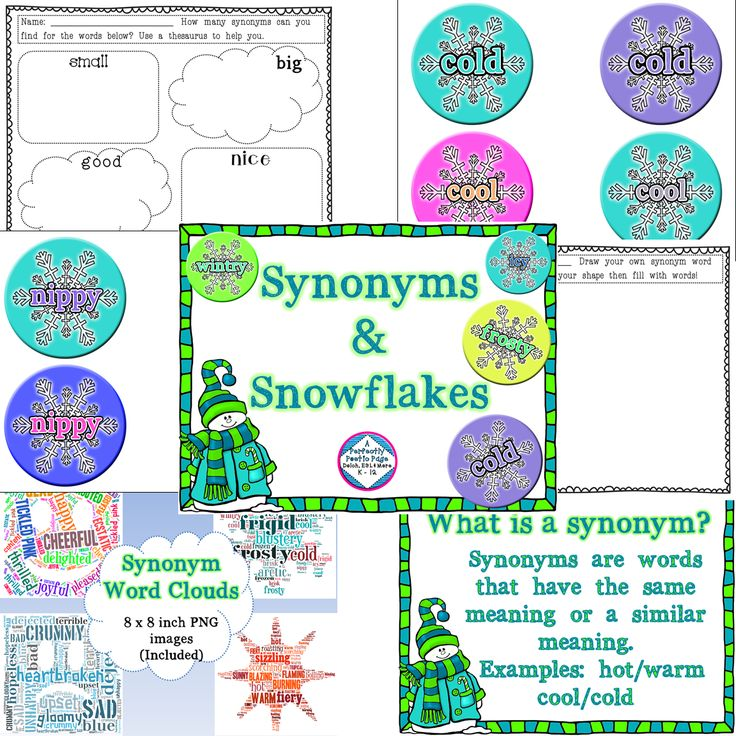 Synonyms Snowflakes Activities And Or Writing Center From A Perfectly Poetic Page Writing Center Synonym Activities Gail Gibbons Author Study