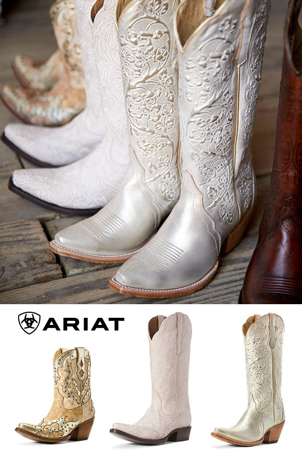 Bridal Collection - Ariat  Wedding cowboy boots, Bridal boots