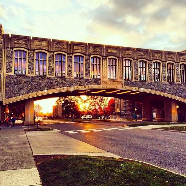 Torgersen Bridge at Virginia Tech- love this pic and the best part is one of my sisters shot it! <3