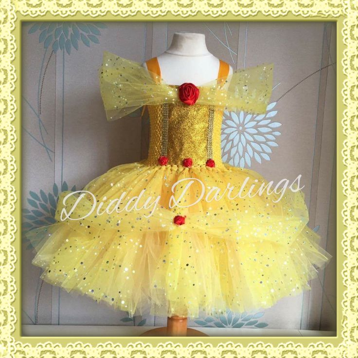 Belle Tutu Dress. Beauty and The Beast Tutu Dress. Special Occasion.  Beautiful…