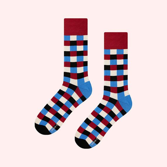 True Happiness Socks | mens socks | casual socks | cool socks | women socks | check socks | patterned socks | colorful socks | cotton socks