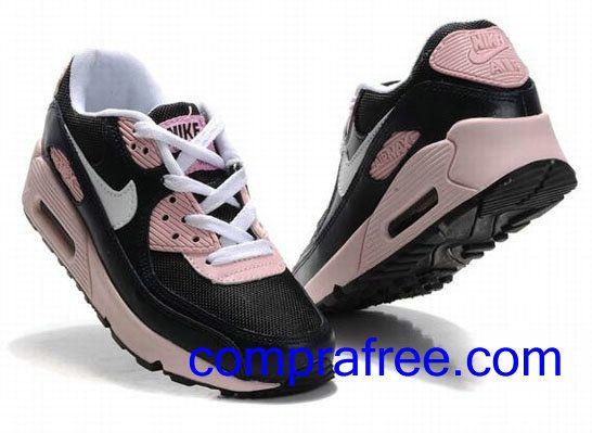 Comprar baratos mujer Nike Air Max 90 Zapatillas (color:blanco,negro,rosa) en linea en Espana.