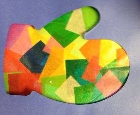 ... mitten cut out. Could use any shape. | Winter Crafts | Pinterest