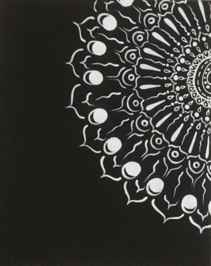 Mandala, acrylic on canvas
