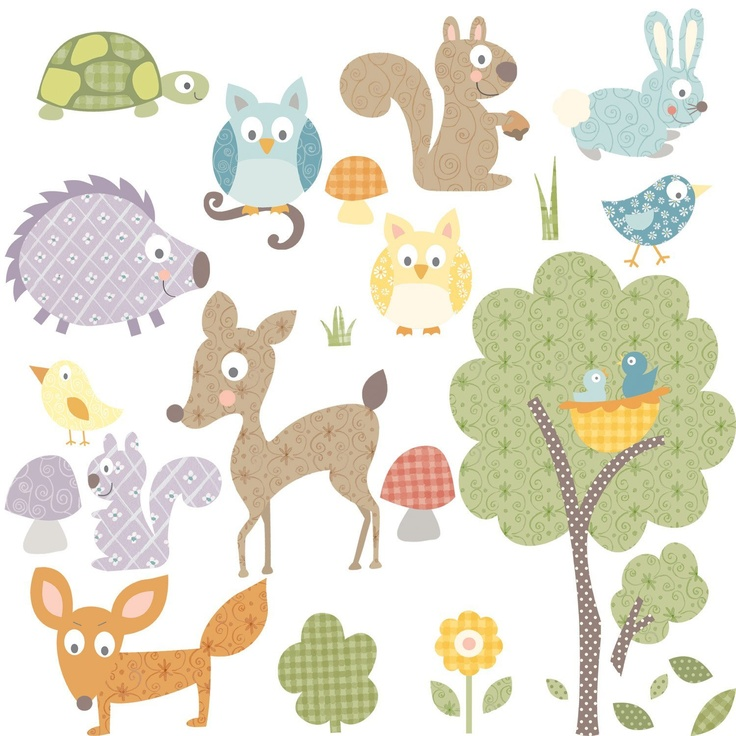 RoomMates RMK1398SCS Woodland Animals Peel & Stick Wall Decals by room mates