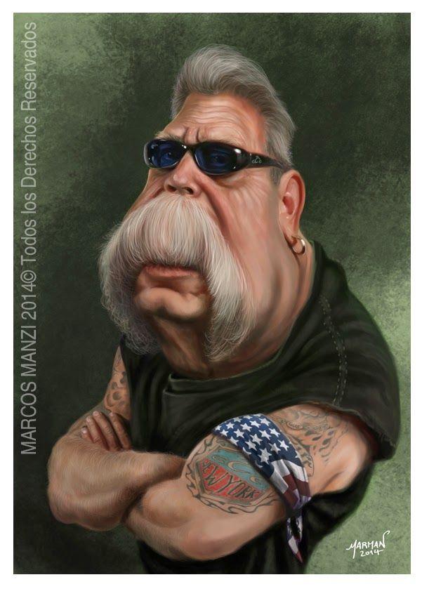 Caricatura de Paul Teutul Sr.