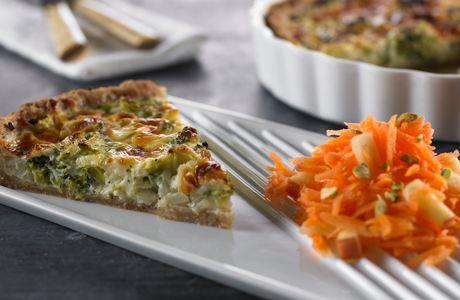 Broccoli-løgtærte - Diabetes
