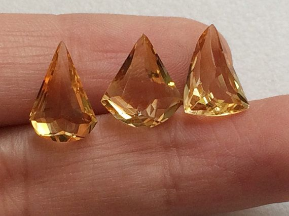 Citrine Cut Stone Fancy Shape Faceted Citrine 3 by gemsforjewels