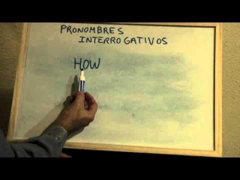 INGLÉS. 6- Pronombres Interrogativos. Inglés para hablantes de español. ...