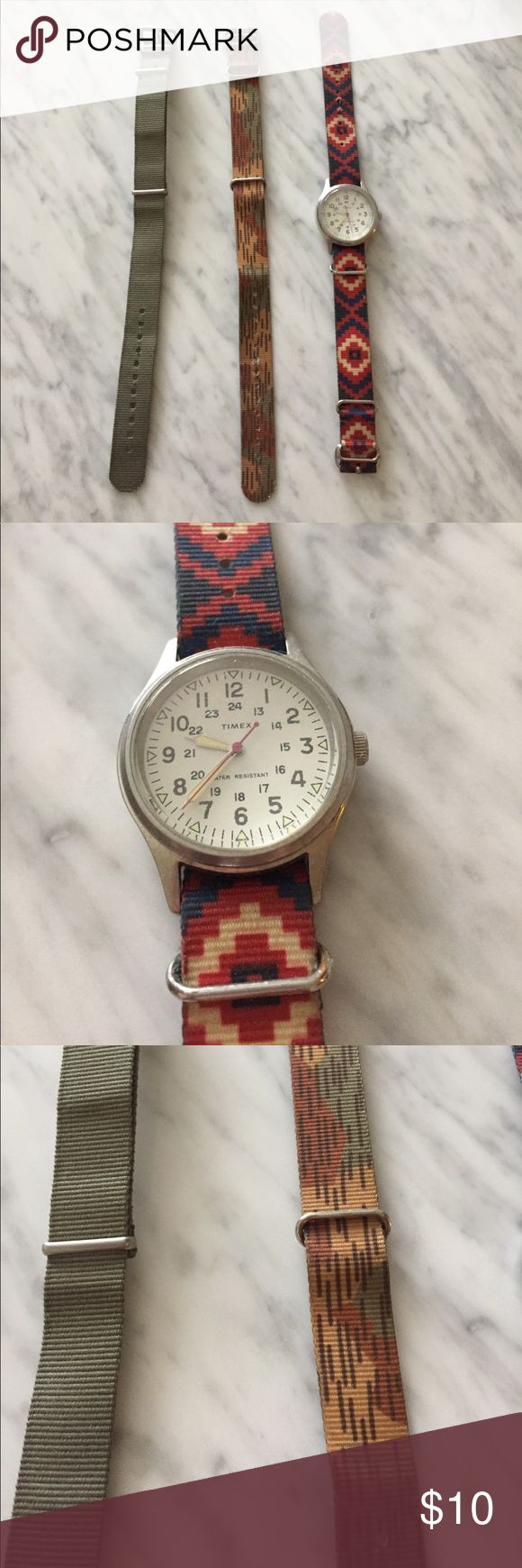 J Crew Timex watch with bands Used J Crew Timex watch with changeable bands Timex Accessories Watches