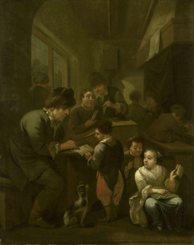 The schoolmasterDe schoolmeester, Bernardus van Schijndel, 1670 - 1709