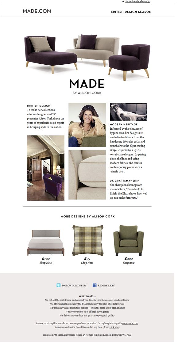 Interior Design Newsletter Beauteous 23 Best Newsletters Images On Pinterest  Email Marketing Email . Decorating Inspiration