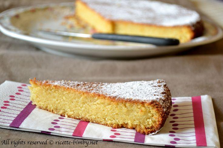 Torta soffice al limone e alle mandorle Bimby • Ricette Bimby