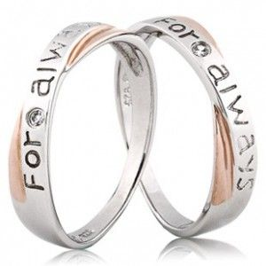 Real diamonds For Always Couples Matching Promise Wedding Rings Bands