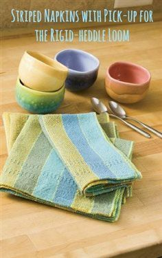 A free project for napkins on the rigid-heddle loom? Yes, please! #Weaving #Stripes #RigidHeddleLoom