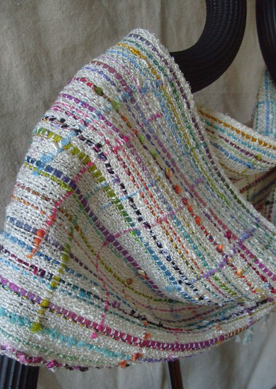 Reserved for Tracy...Handwoven Scarf Spring II by barefootweaver, $94.00