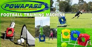 Powapass football training machine! Available NOW for purchase. Email sales@powasports.com @ffa #soccer #football #keepers #coaches #players #fitness #game #skills #ball #training #machine