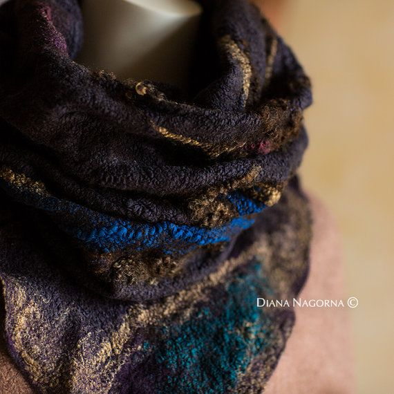 Nuno-felted scarf by DianaNagorna