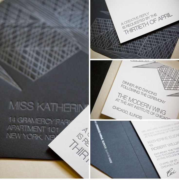 CeciStyle V109: Ceci Johnson of Ceci New York - SILVER LINING: Modern Chicago Wedding - Be inspired by Katherine & Robert's modern wedding in Chicago - wedding, invitations, letterpress printing, die cutting