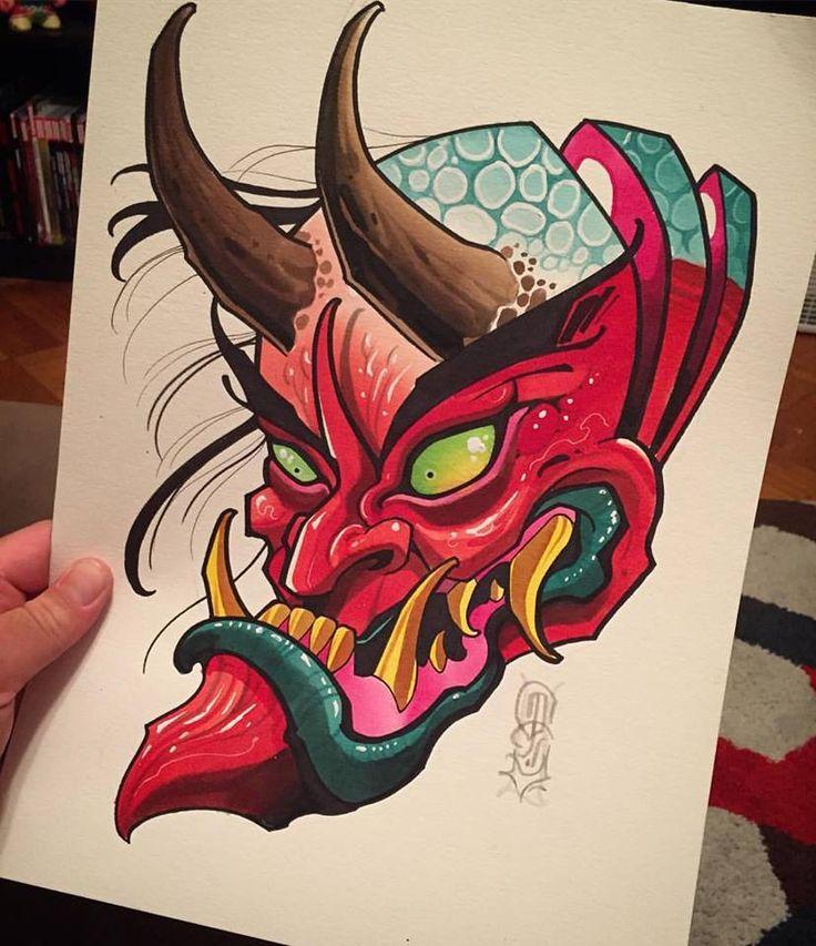 The Devil S Music De Maskers: 25+ Melhores Ideias De Mascara Hannya No Pinterest