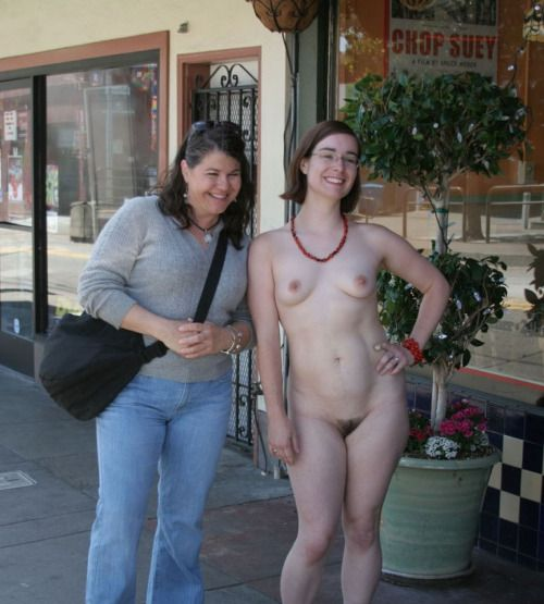 muscular girl nude public