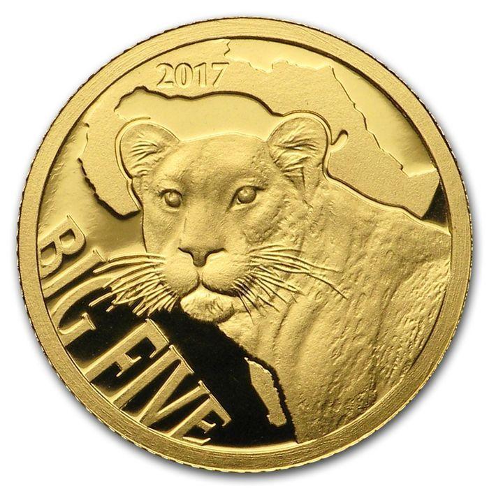Kameroen - 100 Frank 2017. Grote vijf - Leopard - Proof - 999 goud / gouden munt  Kameroen. 100 Frank 2017 grote vijf Leopard.999/1000 goud gewicht 05 gram. Originele verpakking.Editie van slechts 5000 munten.In de grote vraag onder verzamelaars moeilijk te vinden op de Europese markt.Zie foto's voor een goede indruk.Via aangetekende brief worden verzonden.Veel meer van onze veilingen kan worden gevonden hier - voel je vrij om te verzamelen:http://ift.tt/2p21lZ8  EUR 25.00  Meer informatie