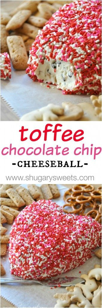 Chocolate Chip Toffee Dip (use any color sprinkles and shape). Easy to make and deliciously addicting!