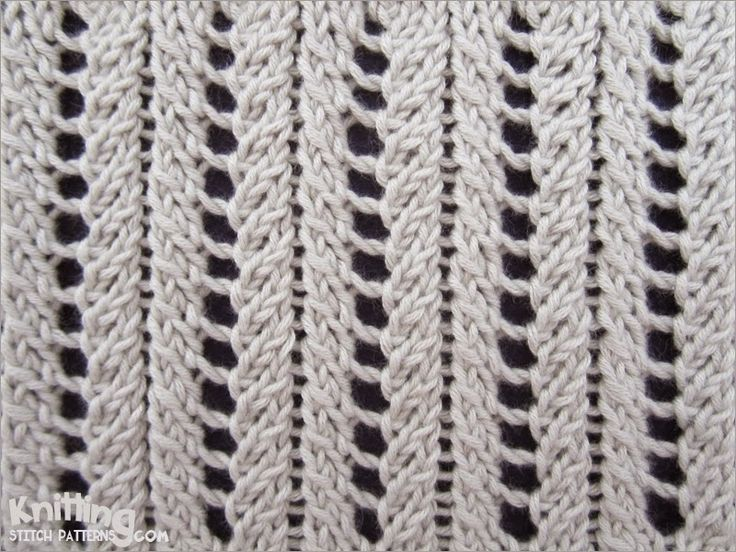 Basic Lace Knitting Stitches : A very simple but elegant lace rib stitch. Knitting Stitch Patterns Pinte...