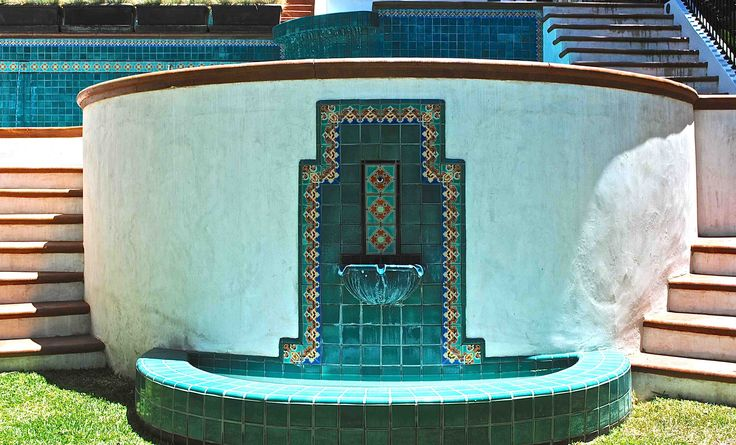 Pool Tile Water Fountain : Best images about fountains for spanish revival on