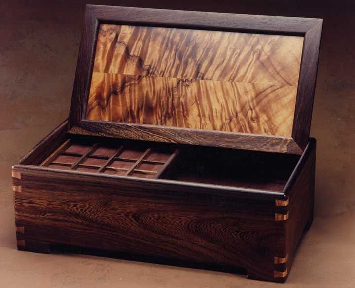 Ricardo Dellara, Jewelry Box with Sliding Interior Tray and Drawer
