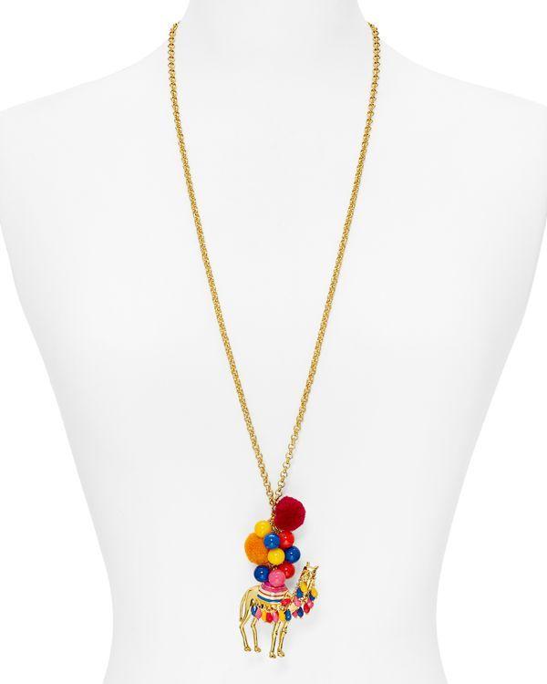 "kate spade new york Camel Pendant Necklace, 30"""