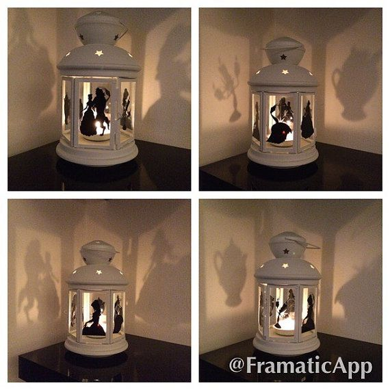 Beauty and the Beast lantern  Approx 23cm in height  Beautiful lantern a must for any fan!!  *sign not included