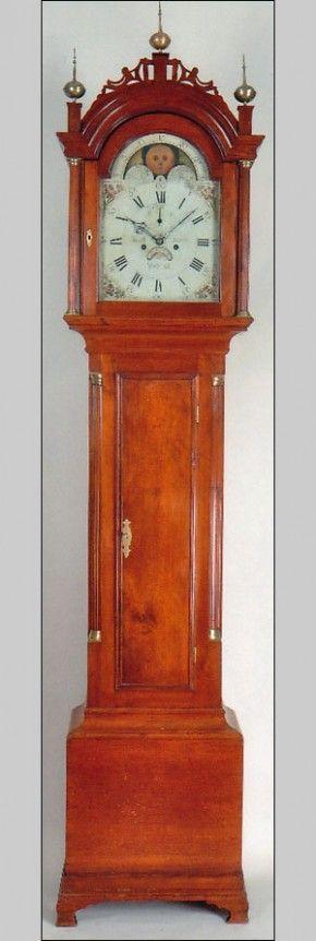 Jacob Morse of Westfield, Massachusetts tall case clock, circa 1795.  Love.