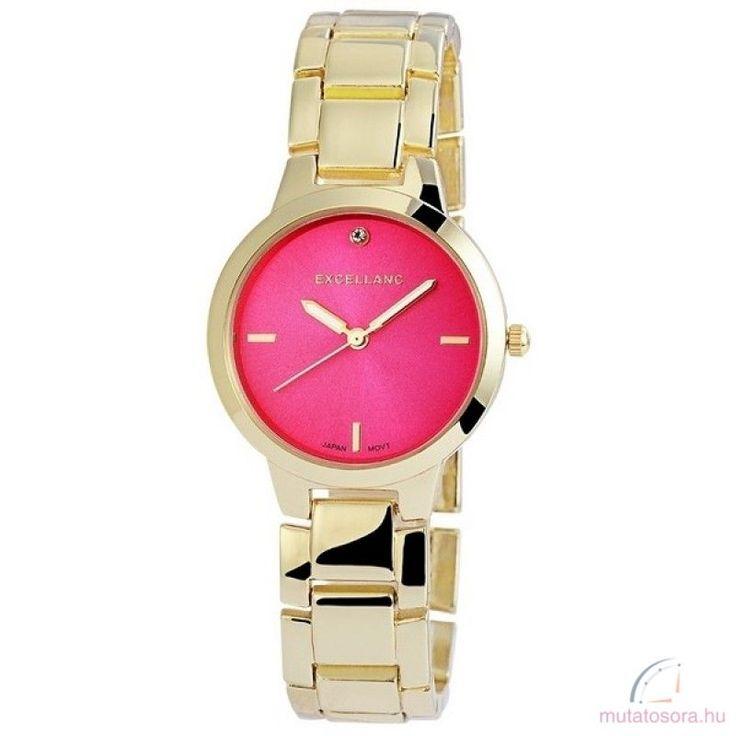 Excellanc Coleen Arany színű Női karóra - Pink